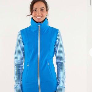 Lululemon jacket blue & white size 8